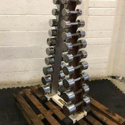 1-10kg Chrome Dumbbell Set With Rack